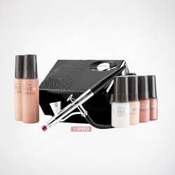 Basic Luminess Airbrush System This revolutionary Airbrush System allows for easy, quick and long lasting applications of airbrush Foundation, Blush, Primers, Skincare, eyeshadows, and much more.